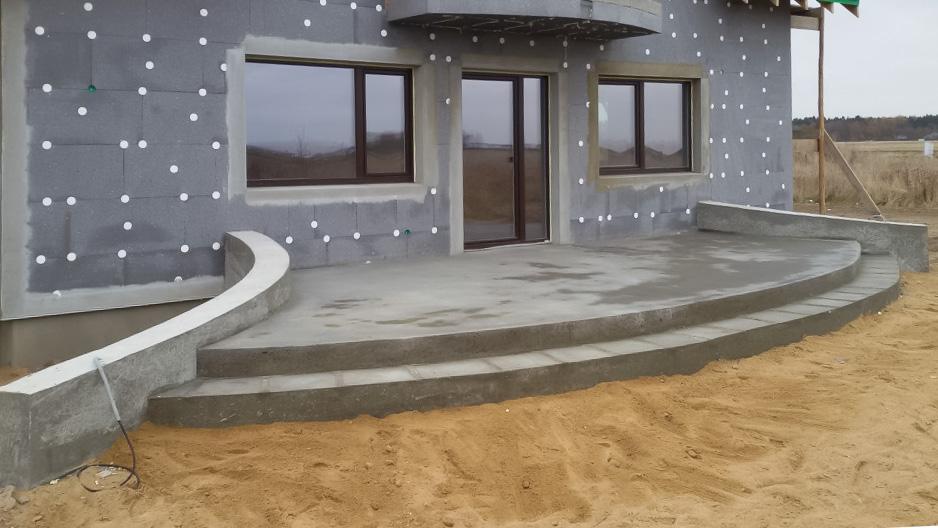 namo statyba terasos betonavimas